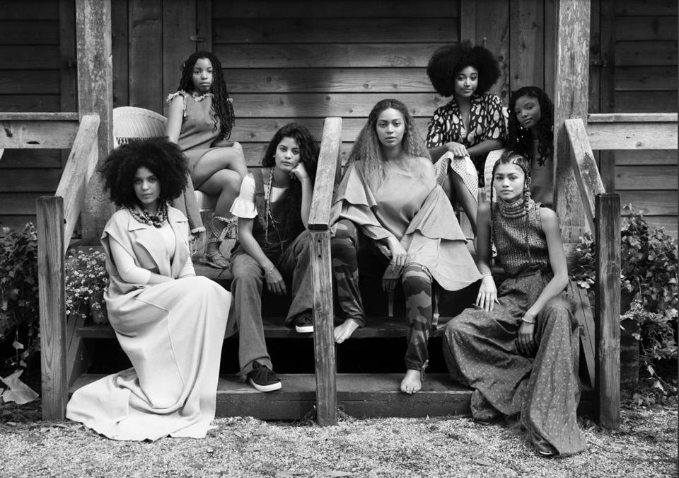 "Beyoncé and other performers on the New Orleans set of ""Lemonade."" Most of the segments were shot in the area."